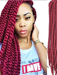 cheap -Braiding Hair Curly Box Braids Twist Braids Synthetic Hair 100% kanekalon hair Kanekalon 12 roots / pack Hair Braids Black Purple 24 inch 24.4inch(Approx.62cm) Party Party Dailywear Other