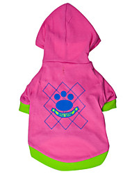 cheap -Dog Hoodie Plaid / Check Fashion Winter Dog Clothes Pink Rose Costume Cotton XS S M L