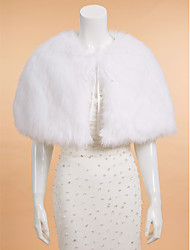 cheap -Sleeveless Faux Fur Wedding / Party Evening / Casual Wedding  Wraps With Capelets