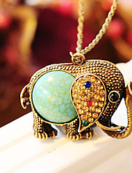 cheap -Women's Pendant Necklace Ladies Rhinestone Alloy Blue Necklace Jewelry For Wedding Party Daily Casual