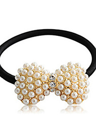 cheap -Women's Imitation Pearl Alloy Hair Tie, Cute Party All Seasons Gold