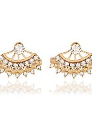 cheap -Women's Crystal Drop Earrings Jacket Earrings Ladies European Fashion Pearl Resin Rhinestone Earrings Jewelry Gold / Silver For / 18K Gold / Imitation Diamond / Austria Crystal