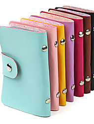 cheap -Stylish PU Leather Business Credit Card Holder(24-Pocket Assorted Color)