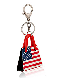 cheap -USA Flag Print Acrylic Bag Shape Keychain Best Gift for Girlfriend Women Favorite