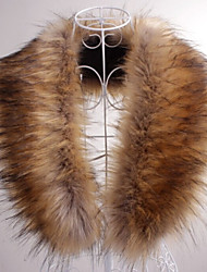 cheap -Sleeveless Collars Faux Fur Party Evening / Casual Fur Wraps / Fur Accessories / Faux Leather With