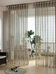cheap -Two Panels Modern Stripe As Per Picture Bedroom Polyester Sheer Curtains Shades
