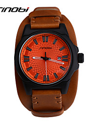 cheap -SINOBI Men's Sport Watch Wrist Watch Quartz Leather Brown 30 m Water Resistant / Waterproof Calendar / date / day Sport Watch Analog Classic - Brown Two Years Battery Life