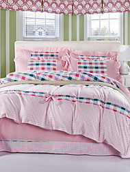cheap -Duvet Cover Sets Solid Colored Cotton Reactive Print 4 PieceBedding Sets / >800