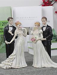 cheap -Cake Topper Beach Theme Garden Theme Asian Theme Floral Theme Classic Theme Classic Couple Resin Wedding Anniversary Bridal Shower with 1