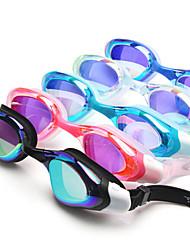 Недорогие -плавательные очки Водонепроницаемость Противо-туманное покрытие Регулируемый размер УФ-защита Поляризованные линзы Фиксирующий шнурок Для силикагель Поликарбонат белый серый черный / покрыло