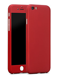 cheap -Case For Apple iPhone X / iPhone 8 Plus / iPhone 8 Shockproof Full Body Cases Solid Colored Hard PC