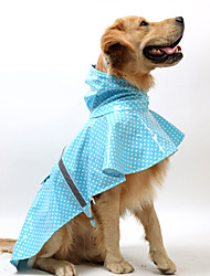 cheap -Dog Rain Coat Polka Dot Waterproof Keep Warm Fashion Outdoor Dog Clothes Blue Pink Costume PU Leather L XL