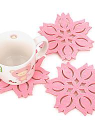 Недорогие -жаропрочные в форме лотоса цветок Снежинка подстаканники розовый цвет держатель чашки