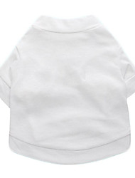 cheap -Dog Shirt / T-Shirt Solid Colored Fashion Dog Clothes Puppy Clothes Dog Outfits White Costume for Girl and Boy Dog Cotton XS S M L