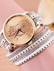 cheap -Women's Bracelet Watch Quartz Leather Black / White / Blue Casual Watch Analog Ladies Charm Fashion - Pink Light Blue Khaki One Year Battery Life / Tianqiu 377