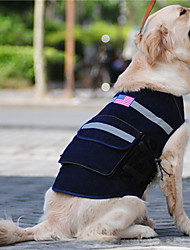 cheap -Dog Commuter Backpack American / USA National Flag Fashion Dog Clothes Camouflage Color Dark Blue Costume Terylene S M L XL XXL