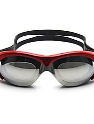 Недорогие -плавательные очки Водонепроницаемость Противо-туманное покрытие Регулируемый размер УФ-защита Поляризованные линзы Зеркальный Для силикагель Поликарбонат красный розовый синий серый