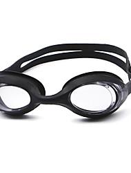 cheap -Swimming Goggles Waterproof Anti-Fog Prescription Mirrored Silica Gel PC Whites Blacks Blues Pink Black Blue