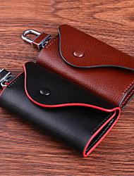 Недорогие -Кнопка кожа ключ сумка / кожаный мешок ключа автомобиля / кожа ключ
