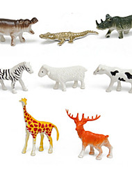 cheap -8 pcs Action Figure Model Building Kit Horse Crocodile Sheep Zebra Deer Animals Novelty Simulation Plastic Imaginative Play, Stocking, Great Birthday Gifts Party Favor Supplies Boys' Girls'