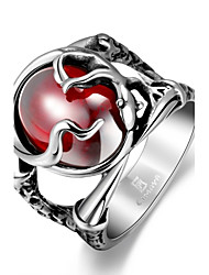 cheap -Men's Statement Ring Cubic Zirconia Red Stainless Steel Zircon Cubic Zirconia Unique Design Fashion Army Christmas Gifts Jewelry Solitaire Skull Magic Memento Mori