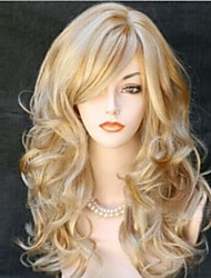 cheap -Synthetic Wig Curly Curly Wig Blonde Long Blonde Synthetic Hair Women's Blonde