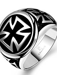 cheap -Men's Statement Ring Stainless Steel Circle Geometric Ladies Unique Design Fashion Christmas Gifts Jewelry Cross