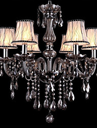cheap -Ecolight™ 6-Light Chandelier Ambient Light Chrome Glass Crystal 110-120V / 220-240V Bulb Not Included / E12 / E14