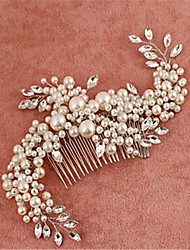 cheap -Imitation Pearl Cubic Zirconia Alloy Hair Combs Headpiece