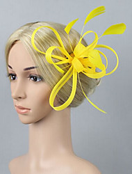 cheap -Women's Fascinators For Wedding Party Special Occasion Fabric Wine Yellow Pink