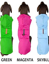 cheap -Dog Rain Coat Solid Colored Waterproof Fashion Outdoor Dog Clothes Red Blue Green Costume PU Leather S M L XL