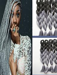 cheap -Color Chemical Fiber Braid African Black Wig Color Gradient