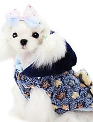 cheap -Dog Coat Dog Clothes Stars Yellow Blue Cotton Costume For Winter Men's Women's Fashion