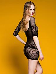 abordables -Femme Grandes Tailles Jupes - Couleur Pleine Maille Noir XL XXL XXXL / Super sexy