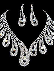cheap -Full Crystal Jewelry Set(Necklace+Earrings)