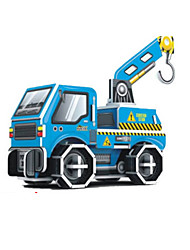 cheap -Forklift 3D Puzzle Wooden Puzzle Paper Model Wooden Model Paper Kid's Adults' Toy Gift