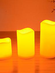 Недорогие -Светодиодные свечи, установленные на день рождения рождественской вечеринки три различных размера свечи с / м / л