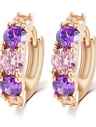 cheap -Earring Stud Earrings Jewelry Wedding / Party / Daily / Casual / Sports Alloy / Zircon 1set Assorted Color