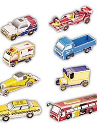 Недорогие -8 pcs Автомобиль 3D пазлы Бумажная модель Бумага Игрушки Подарок