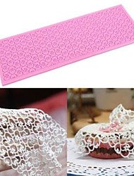 cheap -Silicone Lace Mats Mold Cake Mould Sugar Craft Fondant Mat Cake Decorating Baking Tool