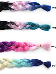 cheap -Others Straight Synthetic Hair 18 inch Hair Extension Micro Ring Hair Extensions Multi-color 1pc African Braids Women's Halloween Party Evening
