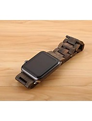 cheap -Watch Band for Apple Watch Series 5/4/3/2/1 Apple Butterfly Buckle Wood Wrist Strap