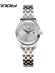 cheap -SINOBI Women's Luxury Watches Wrist Watch Quartz Silver 30 m Water Resistant / Waterproof Calendar / date / day Analog Ladies Luxury Fashion Elegant - Silver