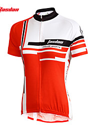 cheap -TASDAN Women's Short Sleeve Cycling Jersey Red Pink Plus Size Bike Jersey Top Clothing Suit Breathable Quick Dry Ultraviolet Resistant Sports 100% Polyester Mountain Bike MTB Road Bike Cycling