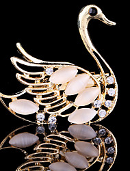 cheap -Women's Brooches Swan Animal Ladies Party Work Casual Fashion Crystal Cubic Zirconia Brooch Jewelry For Wedding Party Special Occasion Anniversary Birthday