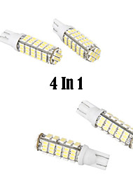 cheap -4 In 1 T10 5W 168 Car High Power White 68 SMD LED Wedge Light Bulb Lamp(DC 12V)