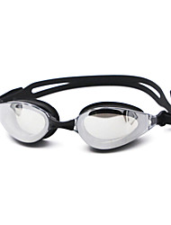 cheap -Swimming Goggles Anti-Fog Prescription Mirrored Silica Gel PC Blacks Blues Dark Blue Black Blue Dark Blue