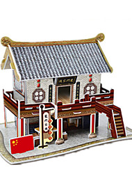 cheap -Chinese Architecture 3D Puzzle Wooden Puzzle Paper Model Wooden Model Paper Kid's Adults' Toy Gift