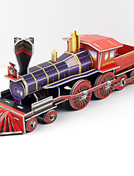 cheap -Train 3D Puzzle Wooden Puzzle Paper Model Wooden Model Paper Kid's Adults' Toy Gift