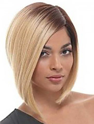 cheap -Human Hair Capless Wigs Straight Straight Wig Blonde Synthetic Hair